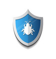 shield icon with beetle virus protection and vector image vector image