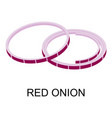sliced red onion icon isometric style vector image vector image