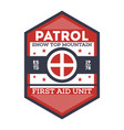 snow patrol first aid unit isolated label vector image vector image