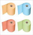 toilet roll collection vector image vector image