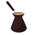 Turkish coffee pot vector image vector image