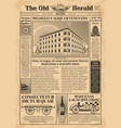 Vintage newspaper template with newsprint