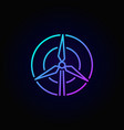 wind turbine concept colorful icon vector image vector image