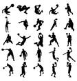 Basketball Silhouette set vector image
