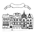 Sketch of an old european buildings with vector image
