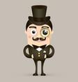 Vintage britain gentleman in hat vector image