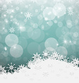 Blue Retro Abstract Blurred Bokeh Winter vector image