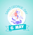 6 may Saint Georgi vector image vector image