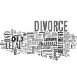 a divorce glossary text word cloud concept vector image vector image