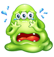A monster crying vector image vector image