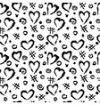 abstract background with a pattern hearts vector image