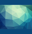 abstract blue green polygonal pattern vector image vector image