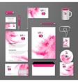 Abstract Corporate identity pink template vector image vector image