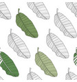 abstract tropical banana palm leaf seamless vector image