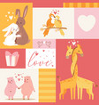 animals babirthday invitation zoo card vector image