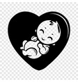 baby icon simple black style