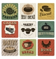 Bakery Retro Style Cards vector image vector image