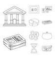 bank and money icon vector image