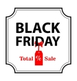 Banner Black Friday sales vector image vector image