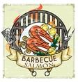 bbq grill label design - salmon