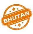 Bhutan grunge icon vector image vector image