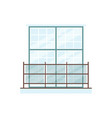 big rectangle window with glass panel railing vector image vector image