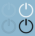 button turn on or off icon the black and white vector image