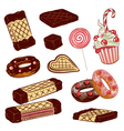 candy sweets waffles vector image vector image