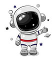 cartoon astronaut isolated on a white background vector image
