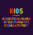 children font in cartoon style colorful bubble vector image vector image