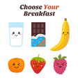 Choose Your breakfast Healthy lifestyle breakfast vector image vector image