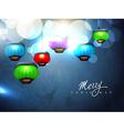 christmas lamp vector image vector image
