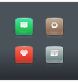 Colorful gradient buttons set vector image vector image