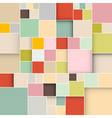Colorful Square Retro Paper Background vector image vector image