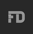 Combination letter FD together logo monogram vector image vector image