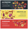 creative art workshop or diy handicraft laboratory vector image vector image