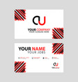 cu logo letter with box decoration on edge vector image vector image