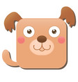 cute square dog isolated on white background vector image vector image