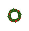 decoration xmas color icon element of christmas vector image