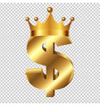 dollar sign with crown vector image