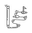 ecommerce concept icon hand drawn icon set vector image