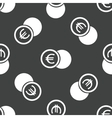 Euro coin pattern vector image vector image