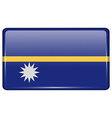 Flags Nauru in the form of a magnet on vector image vector image