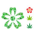 flower mosaic of cannabis vector image
