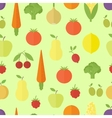 Fruits seamless pattern in flat vector image