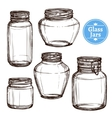 Glass Jars Set vector image