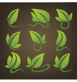 glossy leaves signs and symbols on background vector image vector image