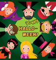 group of happy children in carnival costumes of vector image vector image