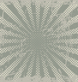 grunge halftone rays vector image vector image