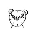 grunge watercolor icon grunge alarm clock icon vector image